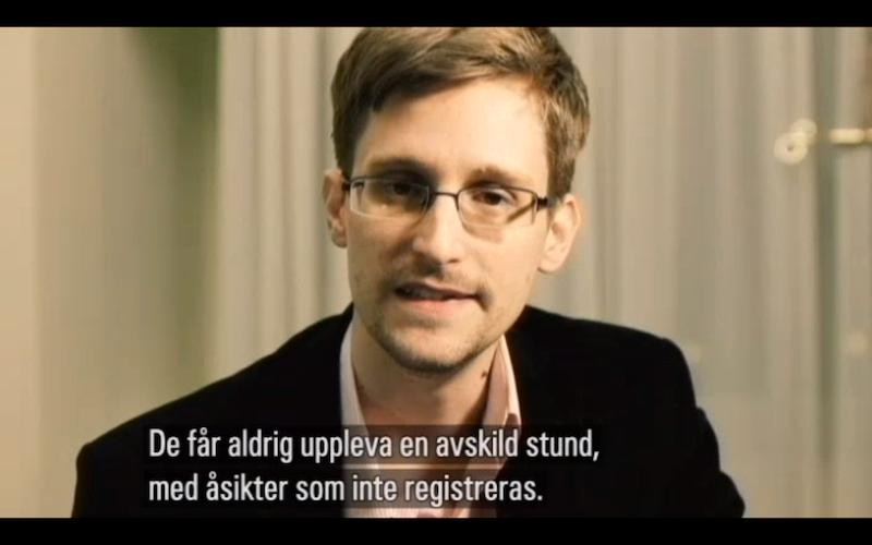 Snowdens tal till Mattsson
