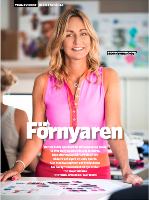 Ulrika Skoghag intervjuad för Sportfack