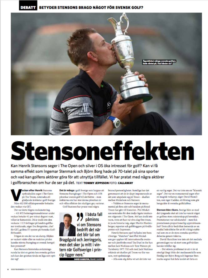 Stensoneffekten i Sportfack Golf Business