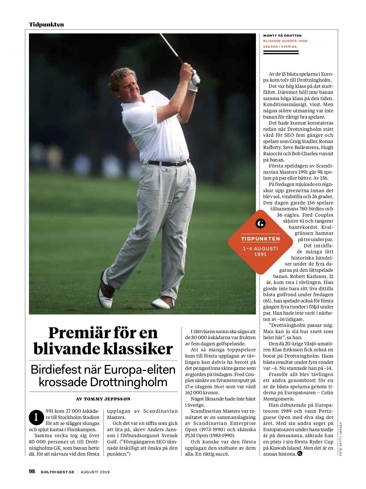 Birdiefest på Drottningholm – krönika om en klassisk golftävling för Golf Digest