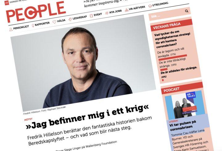 En man i ett krig – intervju med Novares VD Fredrik Hillelson för HR People