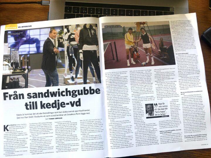 Intervju med Stadiums VD, Karl Eklöf, för Sportfack